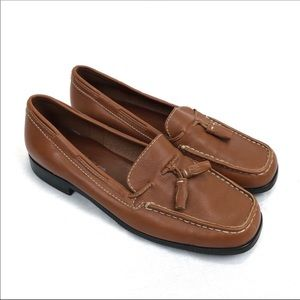 Ann Taylor brown leather loafers - 7